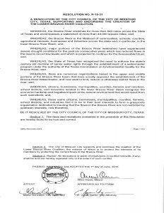 Missouri City resolution