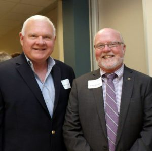 Mike O'Connell, Gulf Coast Water Authority Director, and Larry Buehler with the City of Alvin.